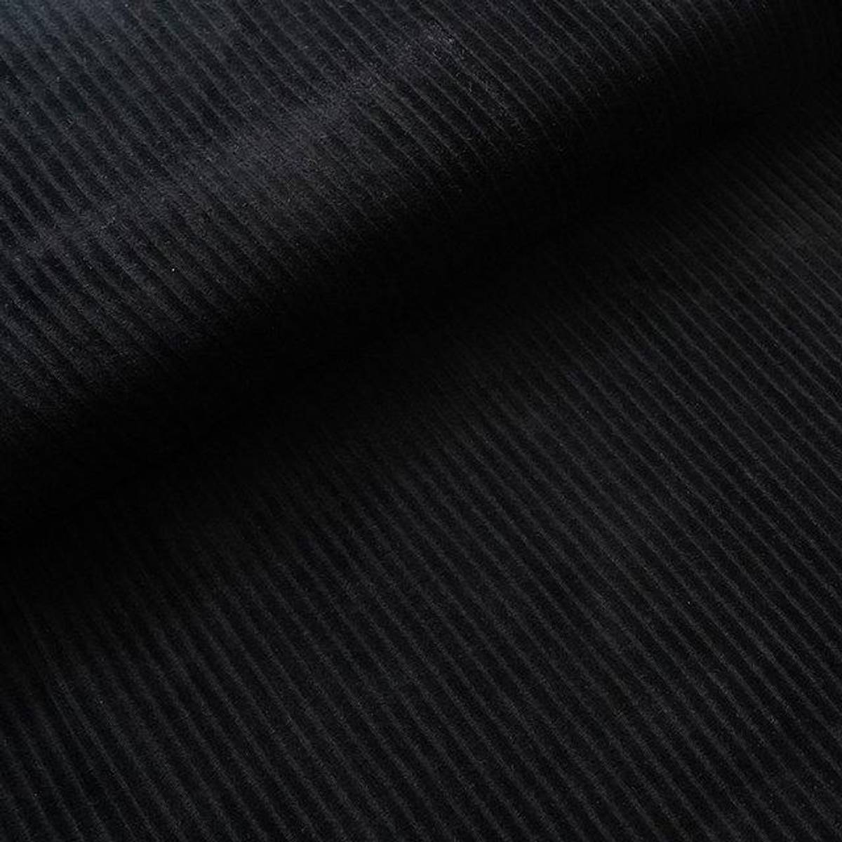 Økologisk myk cordfløyel, svart