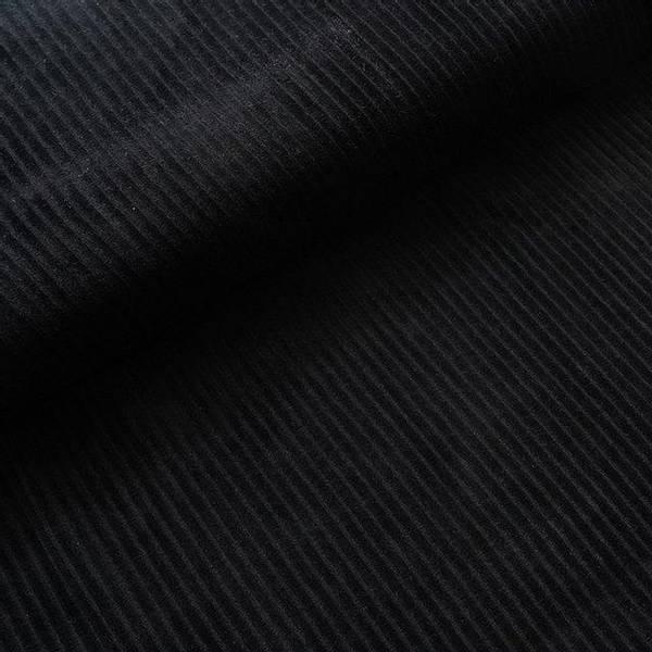 Bilde av Økologisk myk cordfløyel, svart
