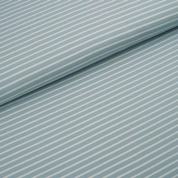 Bilde av Økologisk jersey, striper isbre/hvit