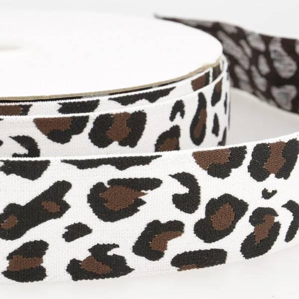 Bilde av 4cm boxerstrikk, leopard hvit
