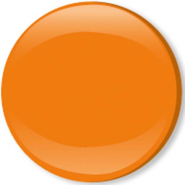 Bilde av Metalltrykknapper m/kappe orange
