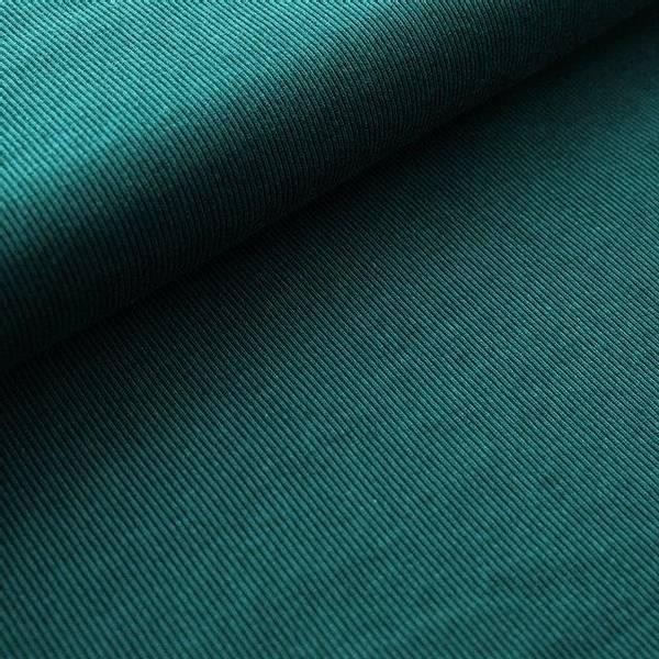 Bilde av Økologisk bomullsjacquard, striper smaragd