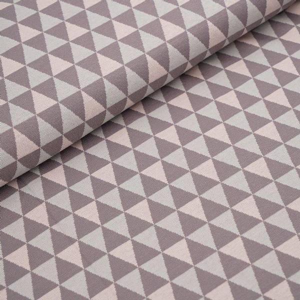 Bilde av Økologisk bomullsjacquard, triangler grå