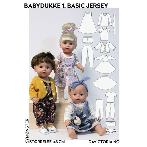 Bilde av Ida Victoria, Sy til babydukke - 1. basic jersey