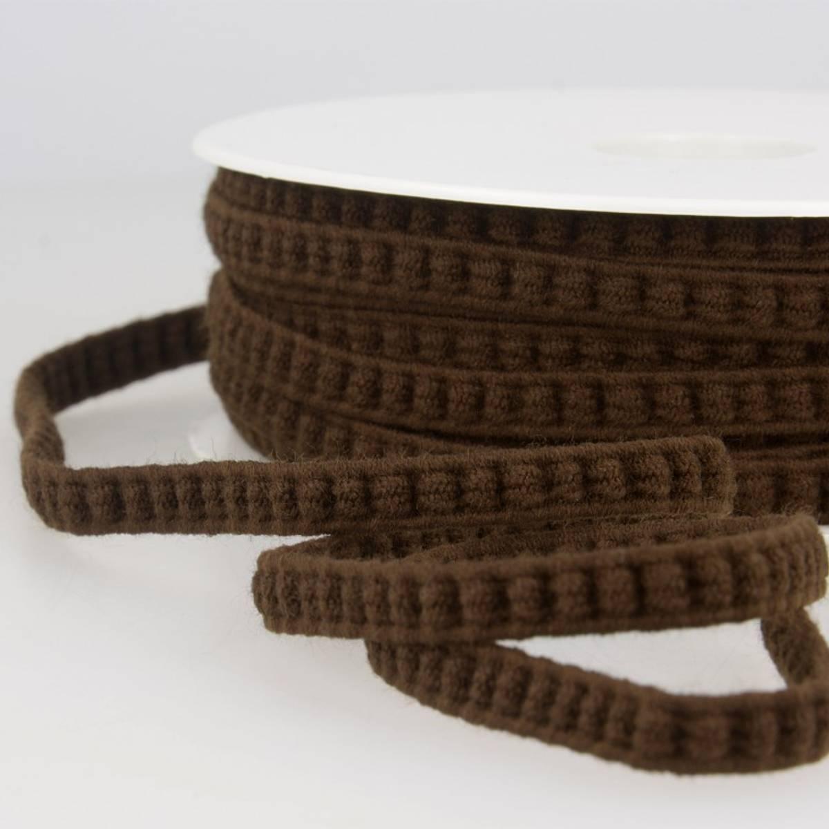 Elastisk flettebånd, brun