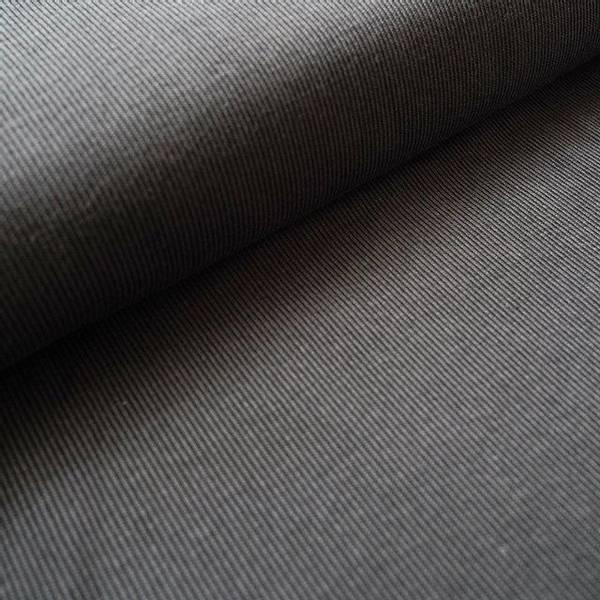 Bilde av Økologisk bomullsjacquard, striper svart/grå