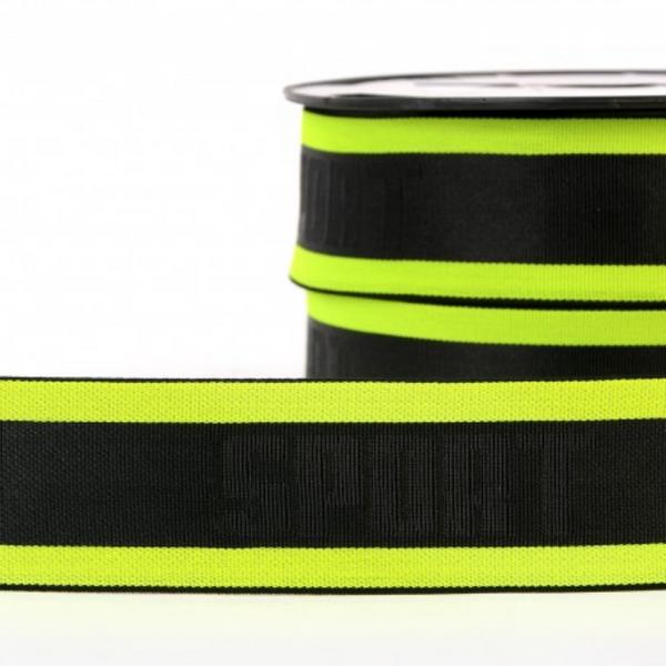 Bilde av 4cm boxerstrikk, neon gul/svart